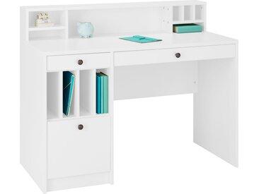 Places of Style Schreibtisch »Licia«, Breite 120cm, weiß, weiß