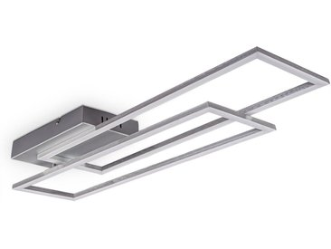 B.K.Licht LED Deckenleuchte, LED Deckenlampe dimmbar CCT Fernbedienung chrom-alu 20W Nachtlicht