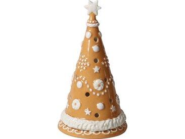 Villeroy & Boch Großer Lebkuchenbaum »Winter Bakery Decoration«, braun, 11x11x21cm, braun,weiß