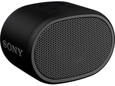 Sony SRS-XB01 Mono Bluetooth-Lautsprecher (Bluetooth, Extra Bass, 6h Akkulaufzeit, Spritzwassergeschützt), schwarz, schwarz