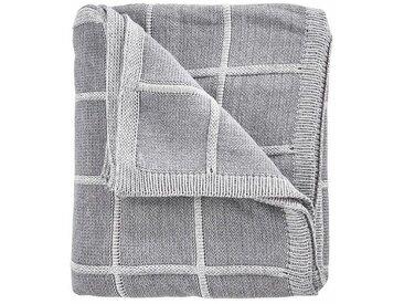 BUTLERS TRAFALGAR SQUARE »Decke Karo 150x200cm«, grau, Grau