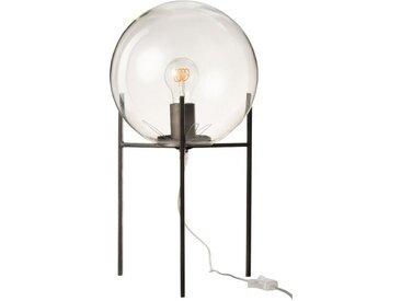 J-line Nachttischlampe »MERA - Modernes Design Tischlampe Glas / Metall 50cm«