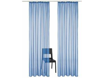 my home Gardine »Xanten«, Kräuselband (2 Stück), blau, blau