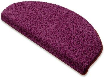 Floordirekt Stufenmatte »Shaggy-Stufenmatte Barcelona«, Halbrund, lila, Berry 114
