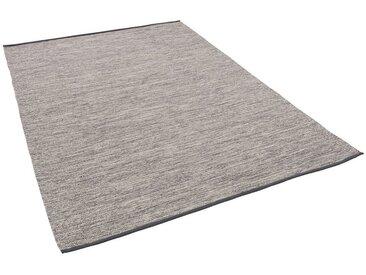 Pergamon Wollteppich »Baumwolle Natur Kelim Teppich Easy Meliert«, Rechteckig, Höhe 8 mm, grau, Grau