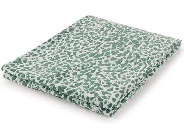 mokebo Wohndecke »Die Animalische«, im Animal-Design, auch als Tagesdecke oder Kuscheldecke, grün, Leopardenmuster in Jade-Weiß 008