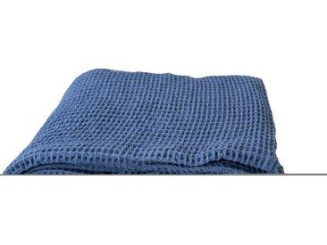 TOM TAILOR Plaid »Honeycomb«, mit Quasten, blau, blau