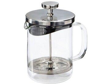 Xavax Tee-/Kaffee-Bereiter, 0,6 Liter »Glas Design«, silberfarben, Silber