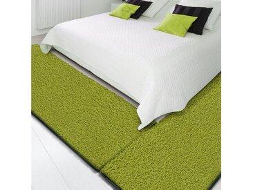 Floordirekt Hochflor-Bettumrandung »Barcelona« , Höhe 22 mm, (3-tlg), Shaggy, grün, Grün