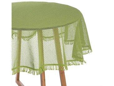 Woltu Gartentischdecke, Tischdecke mit Quaste geschäumt rund, hellgrün
