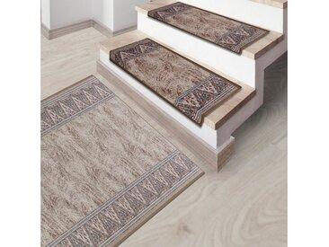 Kubus Stufenmatte »Amrum«, Rechteckig, Höhe 5 mm, Widerstandsfähiger Treppenschutz, braun, Braun