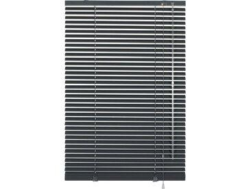GARDINIA Jalousie »Klemm-Jalousie«, ohne Bohren, freihängend, Aluminium-Jalousie zum Klemmen, schwarz, schieferfarben