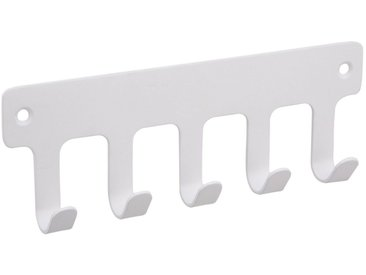SOSmart24 Handtuchhalter »Handtuchhaken Weiß Matt 5-fach aus Metall - Handtuchhalter Bad und WC«