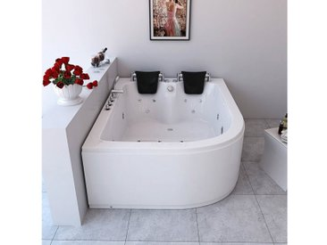 HOME DELUXE Whirlpool »Ancona XL links«, B/T/H in cm: 180/120/65, Wanne links, 180 cm, 180 cm