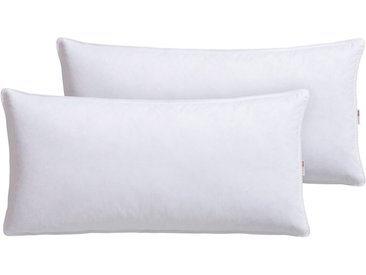 OTTO products Federkopfkissen, »Jannika«, Füllung: 90% Federn & 10 % Daunen, Bezug: 100% Baumwolle, (2-tlg), plastikfreie Verpackung