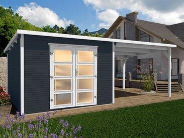 weka Gartenhaus »Line 3«, BxT: 620x334 cm, (Set), grau, lackiert, anthrazit-naturbelassen