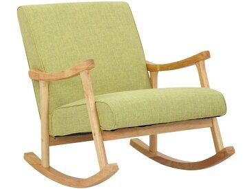 CLP Schaukelstuhl »Morelia Stoff« mit Holzgestell, grün, hellgrün