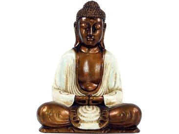 Guru-Shop Buddhafigur »Sitzender Buddha im Dhyana Mudra aus Recin - weiß«, weiß