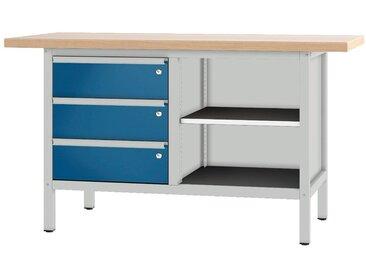 PADOR Werkbank »21 S 35«, blau, 85.5 cm, grau/blau
