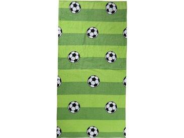 MyToys-COLLECTION Strand- & Badetuch, Fußball, 75 x 150 cm, grün, grün