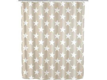 WENKO Duschvorhang »Stella«, Polyester, 180 x 200 cm, waschbar, braun, taupe