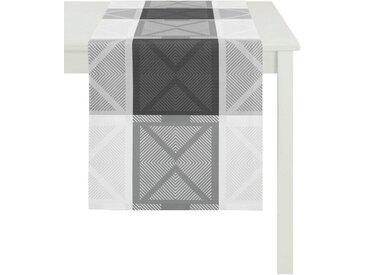APELT Tischläufer »VERONA, LOFT STYLE, Jacquard« (1-tlg), schwarz, schwarz-grau-weiß