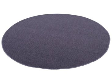 Snapstyle Sisalteppich »Sisal Natur Teppich Rund«, Rund, Höhe 6 mm, blau, Blau