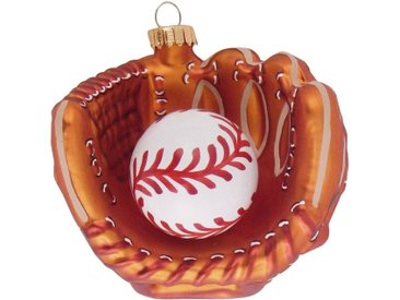 Krebs Glas Lauscha Christbaumschmuck »Baseballhandschuh mit Baseball« (1-tlg), mundgeblasen