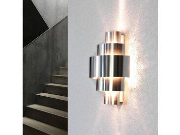 Licht-Erlebnisse Wandleuchte »CAMILLO Design Wandlampe exklusiv Aluminium Lichtmuster Treppe Flur Lampe«