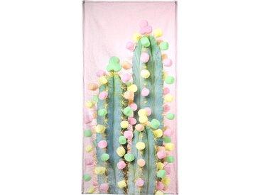 Juniqe Strandtuch »Marshmallow Cactus in Bloom«, Weiche Frottee-Veloursqualität