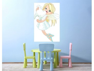 Bilderdepot24 Deco-Panel, selbstklebende Fototapete - Kinderbild - Zahnfee, bunt, Farbig