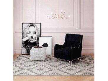 CosmoLiving by Cosmopolitan Teppich »Bodrum Kilim«, rechteckig, Höhe 8 mm, Kelim Optik, silberfarben, silberfarben