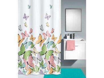 Kleine Wolke KLEINE WOLKE Duschvorhang »Butterflies«, Breite 180 cm, weiß, bunt/weiß