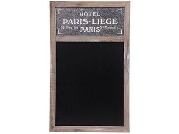 Wellgro Memoboard »Nostalgische Holz-Kreide-Tafel PARIS - Schultafel - Kreidetafel - Memoboard - Wandtafel - Küchentafel - Notiztafel«