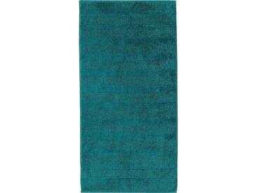 Cawö Badetuch »Noblesse²« (1-St), mit Kordelaufhänger, grün, smaragd