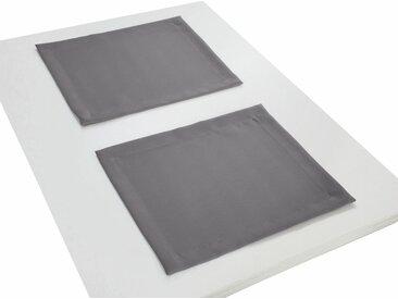 Wirth Platzset, »Natur«, (Packung, 2-St), grau, grau