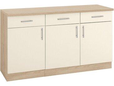 wiho Küchen Unterschrank »Kiel« 150 cm breit, gelb, Vanillefarben/Eichefarben