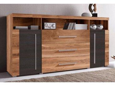 TRENDMANUFAKTUR Sideboard »Roger«, Breite 182 cm, braun, satin nussbaumfarben-darkwood