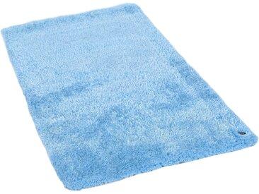 TOM TAILOR Hochflor-Teppich »Soft«, rechteckig, Höhe 35 mm, handgetuftet, super weich und flauschig, blau, hellblau