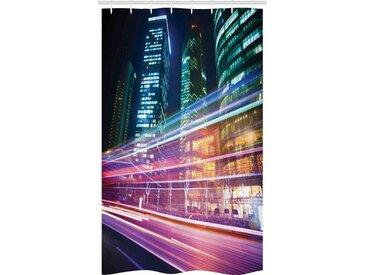 Abakuhaus Duschvorhang »Badezimmer Deko Set aus Stoff mit Haken« Breite 120 cm, Höhe 180 cm, Stadt Moderne Fotografie Shanghai