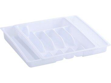 Zeller Present Besteckkasten (1 Stück), ausziehbar, weiß, weiß
