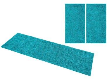 Home affaire Bettumrandung »Shaggy 30« , Höhe 30 mm, blau, türkis