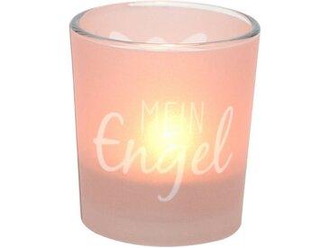 Dekohelden24 Windlicht »Windlichtglas inkl.1 Teelicht, Mein Engel.« (1 Stück)