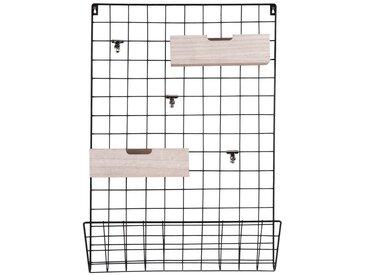 Present Time Memoboard »Grid«, Mit Zubehör - 2 x Holzboxen + 3 x Klammern