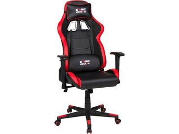 Duo Collection Gaming Chair »Game-Rocker G-10«, schwarz, schwarz/rot - schwarz/rot