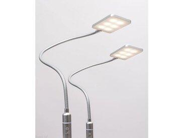 kalb Bettleuchte » 4W LED Bettleuchte Leseleuchte Flexleuchte Nachttischlampe Bettlampe Leselampe«, 2er Set silbergrau