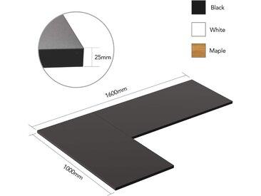 FLEXISPOT Tischplatte »PR160*10«, Stabile Tischplatte für Winkelschreibtisch Eckschreibtisch - DIY Bürotischplatte Spanholzplatte (160 x 100 cm, 2,5 cm), Farbe auswählbar