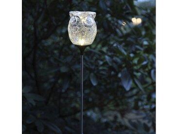 STAR TRADING Dekolicht »LED Solarstab EULE Gartenstecker Gartendeko H: 75cm Lichtsensor«