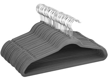Yaheetech Kleiderbügel, (100-tlg), 100 Stück Anzugbügel Garderobenbügel rutschfeste Oberfläche Wäschebügel mit 360° drehbarem Haken Grau, grau, Grau