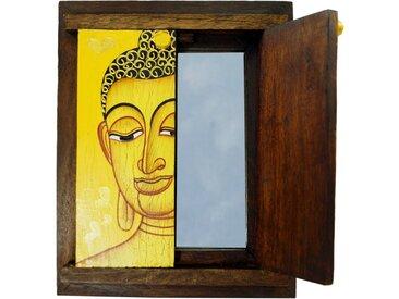 Guru-Shop Dekospiegel »Kleiner Standspiegel, Schminkspiegel mit Buddha..«